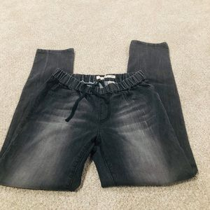 DKNY Black Drawstring Skinny Jeans